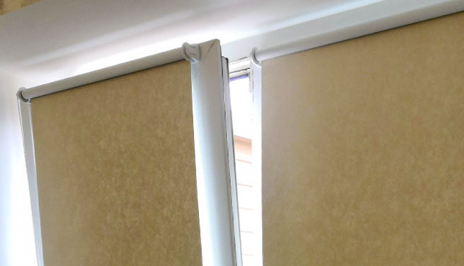 What is special about the open roller blind system?