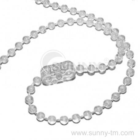 Ланцюжок прозорий на білому шнурі