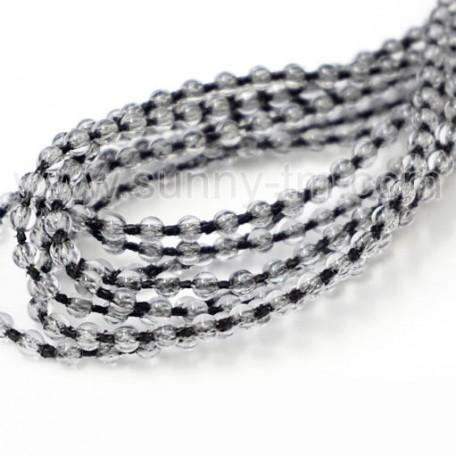 Chain transparent on black cord