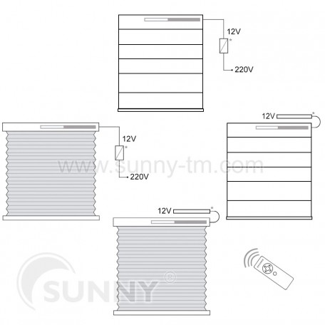 Electric drive for roller blinds Sunny B24DC