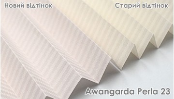 Change in shade of pleated fabric Awangarda Perla 23