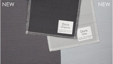 Changes in shades of Roman fabrics Doris Gray Graphite