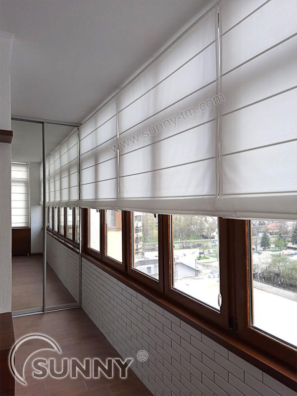 римская штора Classic, ткань Elen White