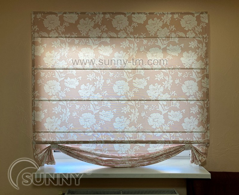римская штора Classic, ткань Peony 7
