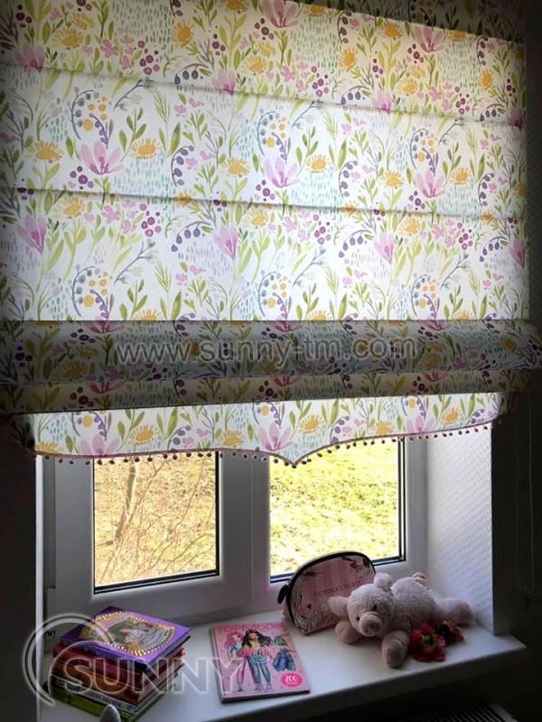 Римская штора Combi, ткань Aquarelle