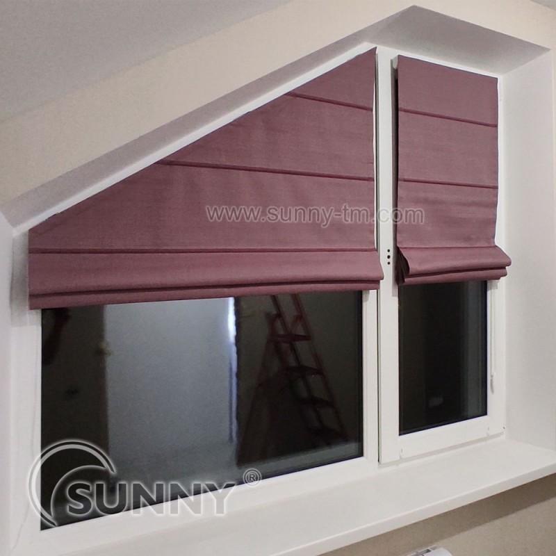 римская штора Classic, ткань Elen Bordo