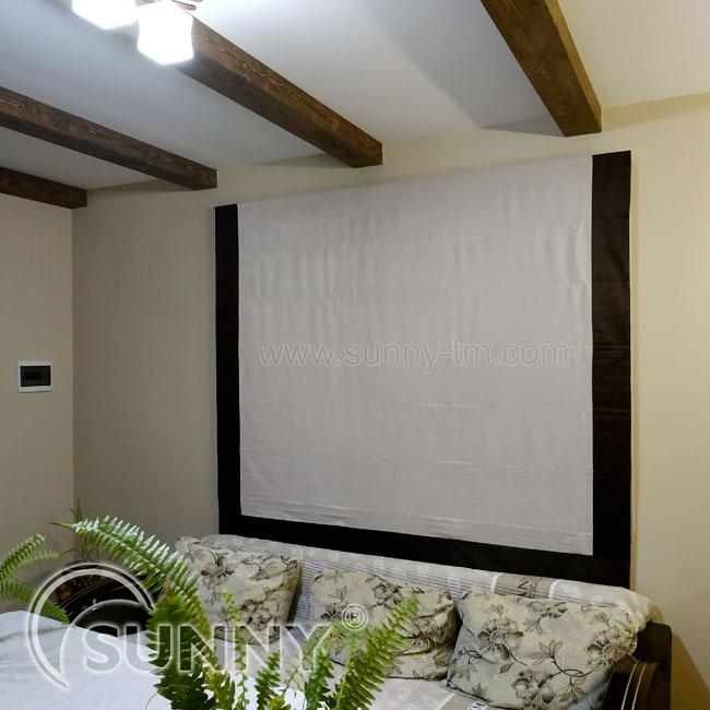 Римские шторы в интерьере спальни
