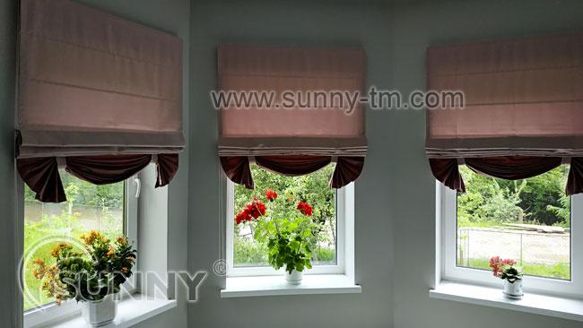 Римские шторы для зала
